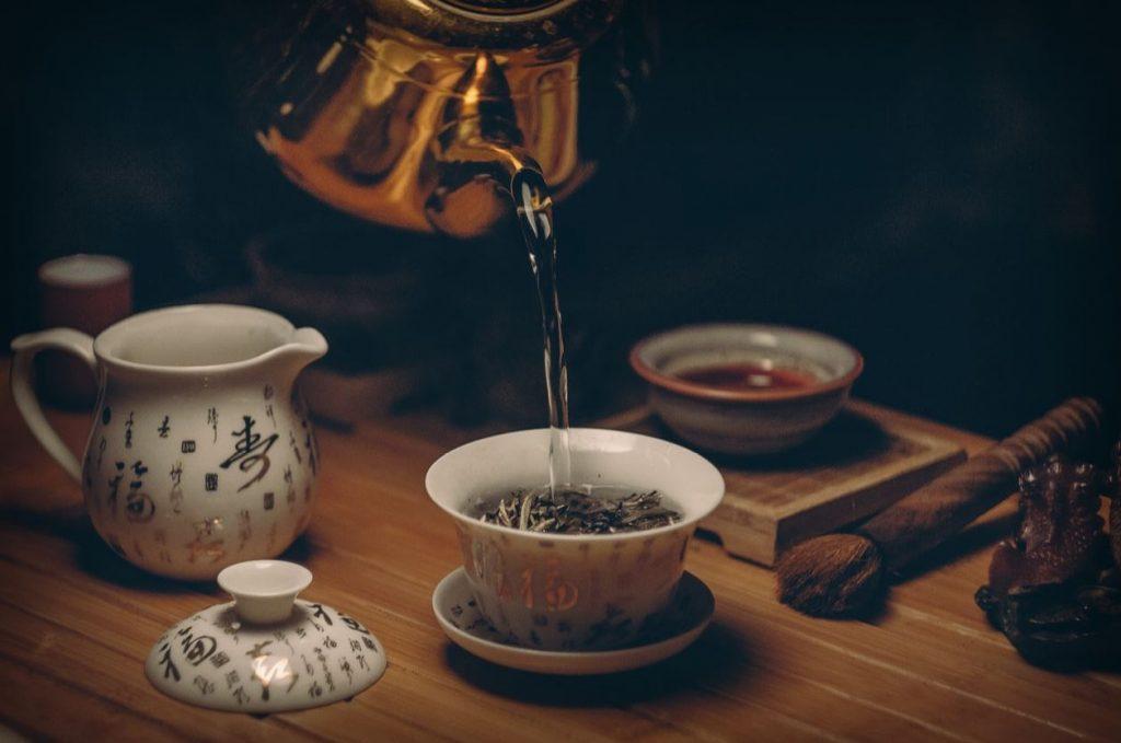 Service du thé japonais